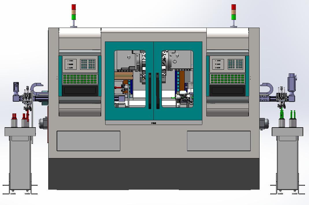 双主轴双背刀刀塔数控机床DKCK-D100